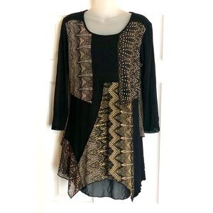 """From The Heart """"Millie"""" Asymmetrical Tunic"""